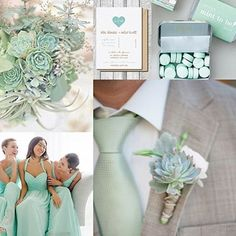 Mint-to-be! Mint color wedding for the spring! Mint Wedding Themes, Wedding Mint Green, Wedding 2017, Wedding Color Schemes, Spring Wedding, Wedding Colors, Our Wedding, Wedding Decorations, Mint Wedding Flowers