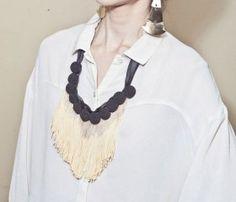 Black Button Necklace