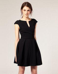 080a37824 Deal of the day  ASOS Premium pleat shoulder dress Vestidos Casuales  Cortos