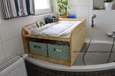Wickelkommode für die Eckbadewanne - selbstgebaut Mehr