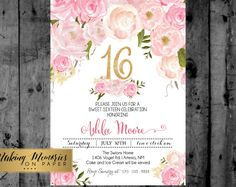 Items similar to Pink Floral Baptism Invitation. Pink Watercolor, Pink Roses Baptism, Christening, Dedication, First Communion. Girl Baptism on Etsy Unicorn Invitations, Communion Invitations, Flower Invitation, Baptism Invitations, Pink Invitations, Bridal Shower Invitations, Birthday Invitations, Invite, Sweet 16