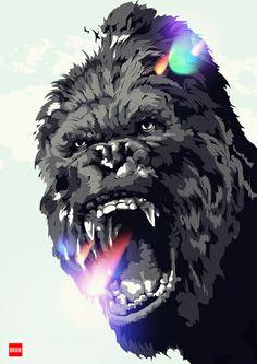 Animals Gorilla Art Print