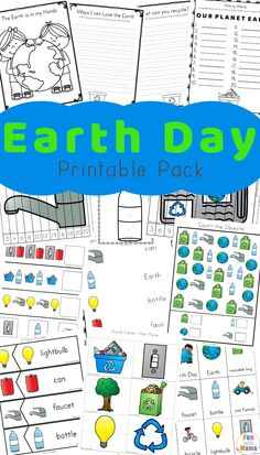 Earthday Worksheets for Kids Earth Day Activities for Kids Including Printables and Free Kindergarten Worksheets, Free Preschool, Worksheets For Kids, In Kindergarten, Reading Worksheets, Fun Activities For Toddlers, Earth Day Activities, Preschool Activities, Recycling Activities For Kids