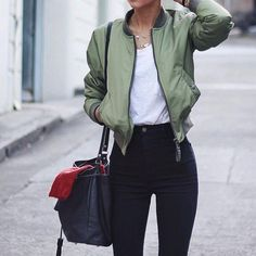 Cool bomber jacket for autumn