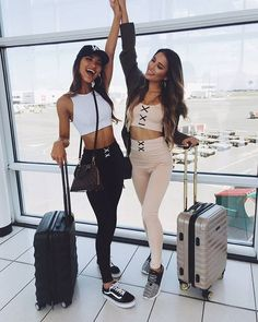 Our 'Workin It crop top in white' + 'Get Laced tights in black' and … Mega babes! Our 'Workin It crop top in white' + 'Get Laced tights in black' and nude + 'Get Going crop top in nude' Shop now via the link in our bio Photos Bff, Bff Pictures, Best Friend Pictures, Friend Photos, Cruise Pictures, Travel Pictures, Photo Pour Instagram, Best Friend Fotos, Pastel Outfit