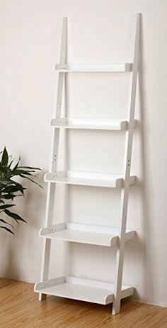 eHemco 5 Tier Bookcase Ladder in White Finish eHemco http://www.amazon.com/dp/B00756BI8U/ref=cm_sw_r_pi_dp_20Pwwb08D5YH5