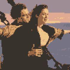 pixel art Titanic king movie iceberg di of cinema caprio titanic romance famous world love the leonardo kate boat winslet by Masto91 piq
