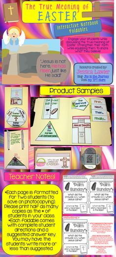 Easter Interactive Notebooks - a fun and engaging way to discuss the true Biblical meaning of Easter with your kids/students. Download the preview for a FREE foldable. $