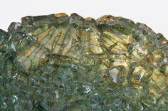 Moss Green Home Decor Reclaimed Glass Art Recycled Art Glass