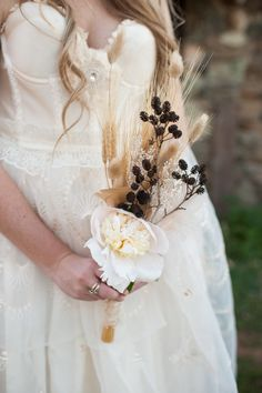 Wheat and thistle bouquet. Photography by acresofhopephotography.com, Event Planning by CoutureEventsSD.com