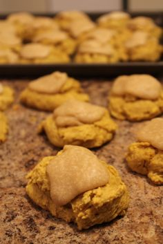 Pumpkin cookies with Brown Sugar Frosting! What more do you need to know?
