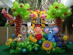 globos con forma de animales de zoologico