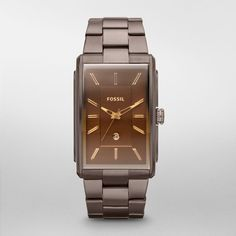 Fossil Dress Stainless Steel Watch - Brown Fossil