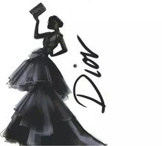 Collections autumn:winter Illustrations by Martine Brand_Dior Christian Dior, Fashion Wall Art, Fashion Painting, Dior Fashion, Miss Dior, Fashion Sketches, Fashion Illustrations, Fashion Pictures, Ideias Fashion