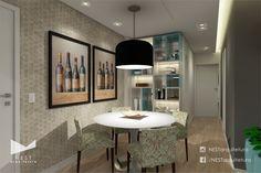 1|2 APARTAMENTO RK - Projeto de Arquitetura de Interiores para sala de jantar em Criciúma - SC