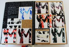 A2 Graphics A3 Black Sketchbook Screen Print Typography Component 1 Environment Thomas Rotherham College 2017