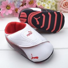 Cute Baby Boy Girl New Puma Soft Sneaker Velcro Crib Ferrari Soccer Shoe 12-18M