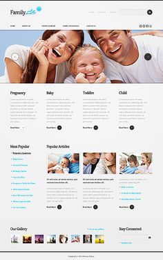 Family Life Drupal Templates by Astra
