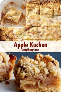 Apple Kuchen This Apple Kuchen is a traditional German apple cake. Kuchen is the German word for cake and is delicious for breakfast brunch dessert or a snack. The post Apple Kuchen appeared first on Deutschland. Apple Dessert Recipes, Fall Desserts, Apple Recipes, Baking Recipes, German Food Recipes, Cookie Recipes, Brunch Recipes, Breakfast Recipes, Dinner Recipes