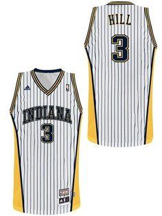 e9f566017 Indiana Pacers  3 George Hill Hardwood Classics retro white swingman jersey  Danny Granger