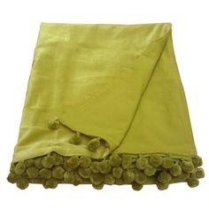 This really is indulgent luxury and you won't want to miss out! Our stunning Belinda lime green sofa throw is made from 100% velvet with cotton poplin on the reverse. Finished with a matching polyester pom pom trim. This will certainly add glamour to any room in your home! - 100% cotton velvet face Lined with 100% cotton poplin on the reverse - Polyester pom pom trim on two sides - Size 140cm x 180cm - Dry clean only due to velvet pile - Matching items available