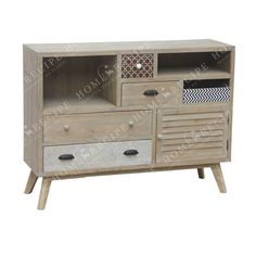 Tv Wooden Natural Beige With Tiles
