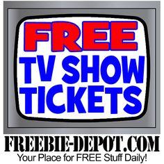 ►► FREE LIVE TV Show Tickets ►► #Free, #FREEStuff, #Freebie ►►