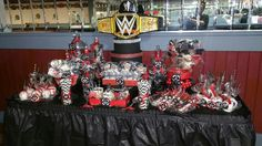 WWE Candy Table by Sincerely Yours, Juana #cakepopsbycie