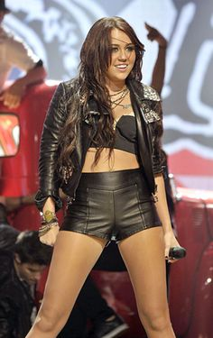 Miley Cyrus sporting hot pants.