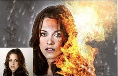 Photo Manipulation Tutorial for Adding Fire or Flame to a Portrait