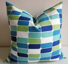 Indoor Outdoor Pillow Cover Richloom Solarium by DesignerPillows4U, $18.00