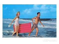 Couple with Toy Raft Posters - AllPosters.ca