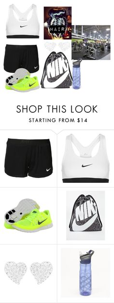 """Going to the Gym after School"" by missk2blue ❤ liked on Polyvore featuring NIKE, Swarovski, Salomon, Contigo, women's clothing, women's fashion, women, female, woman and misses"