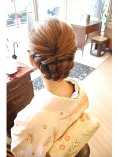Bun Hairstyles, Wedding Hairstyles, Updo Styles, Hair Styles, Wedding Hair Inspiration, Roller Set, Japanese Beauty, Yukata, Perm