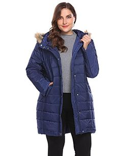 dd5f43072e9 Etuoji Women Plus Size Hooded Long Sleeve Zipup Quilted Short Parka Winter  Coat Outwear