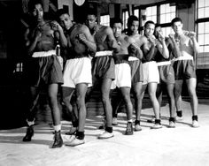 """""""boxing champions at Great Lakes Naval Training Station. March 3, 1943. """""""