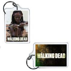 """Michonne The Walking Dead Acrylic Keychain 2\"""" x 1\"""""""