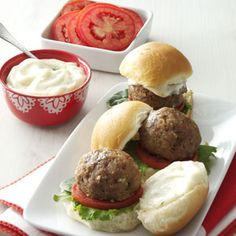 BLT Meatball Sliders Recipe from Taste of Home -- shared by Damali Campbell of New York, New York