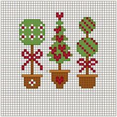 Χειροτεχνήματα: Χριστουγεννιάτικα δένδρα για κέντημα / Christmas tree cross stitch patterns
