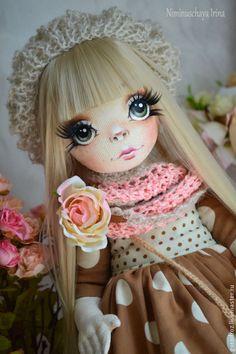 Коллекционные куклы ручной работы. Ярмарка Мастеров - ручная работа. Купить Дарья! Авторская куколка ручной работы. Handmade. Бежевый