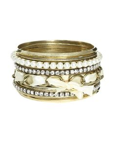 12 Romantic Bangle Set - Teen Clothing by Wet Seal