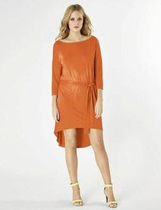 Michael Stars Boatneck HI-Lo Dress | Can be worn with or without the sash!    Looks great with skinny jeans too! | Alysa Rene Boutique - Leawood, KS