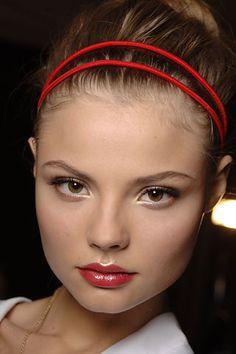 Beautiful Valentino makeup, 2013.