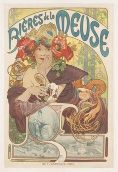 Affiche Mucha Bière de la meuse - L'affiche française