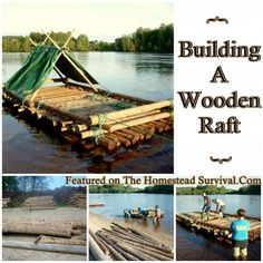 The Homestead Survival | Building A Wooden Raft | This group of friends experienced the adventure of building a wooden raft while on a camping trip in Karlstad Sweden with their own hands & they share how they did it. DIY Project - Homesteading - Primitive Skills