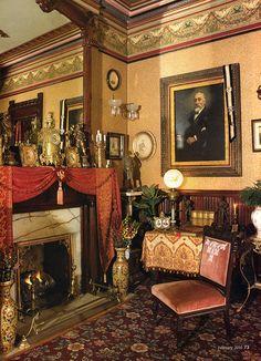 Bradbury Reproduction Wallpaper Victorian House Interiors, Victorian Rooms, Victorian  Home Decor, Victorian Parlor