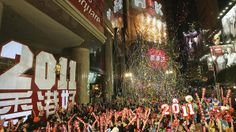 Revellers take part in New Year celebrations in Hong Kong's Times Square. Looks like a must go!