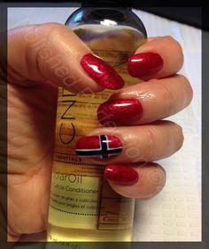 Norwegian flag nail art :)