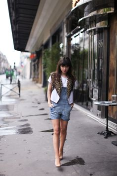 Cute overalls and vest