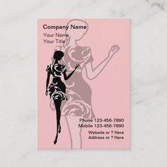 Fashion Business Cards Fashion business cards with chic fashion lady wearing a damask dress and text layout you can customize on a pink background color you can change. Stylish business card that is distinctive and fresh. Best business cards for themes related to fashion boutique, modeling, beauty, or use this for a hair or nail salon. #Artist Fashion Business Cards, Cool Business Cards, Boutique Nails, Model Outfits, Fashion Stylist, Fashion Boutique, Colorful Backgrounds, Text Layout, Things To Come